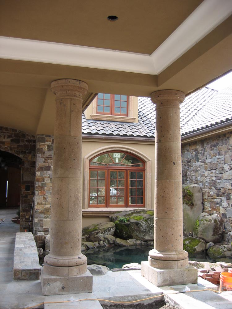 Custom Stone Details And Cast Stone Stone Center