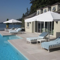 Limestone Pool Deck by Stone Center, Inc Portland OR