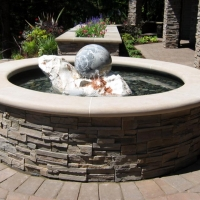 Rolling Ball Marble Fountain by Stone Center, Inc Portland OR
