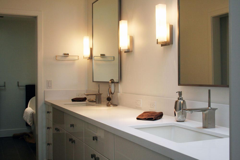 White Quartz Bathroom Counter marble vanities | sinks | showers | tub decks - stone center