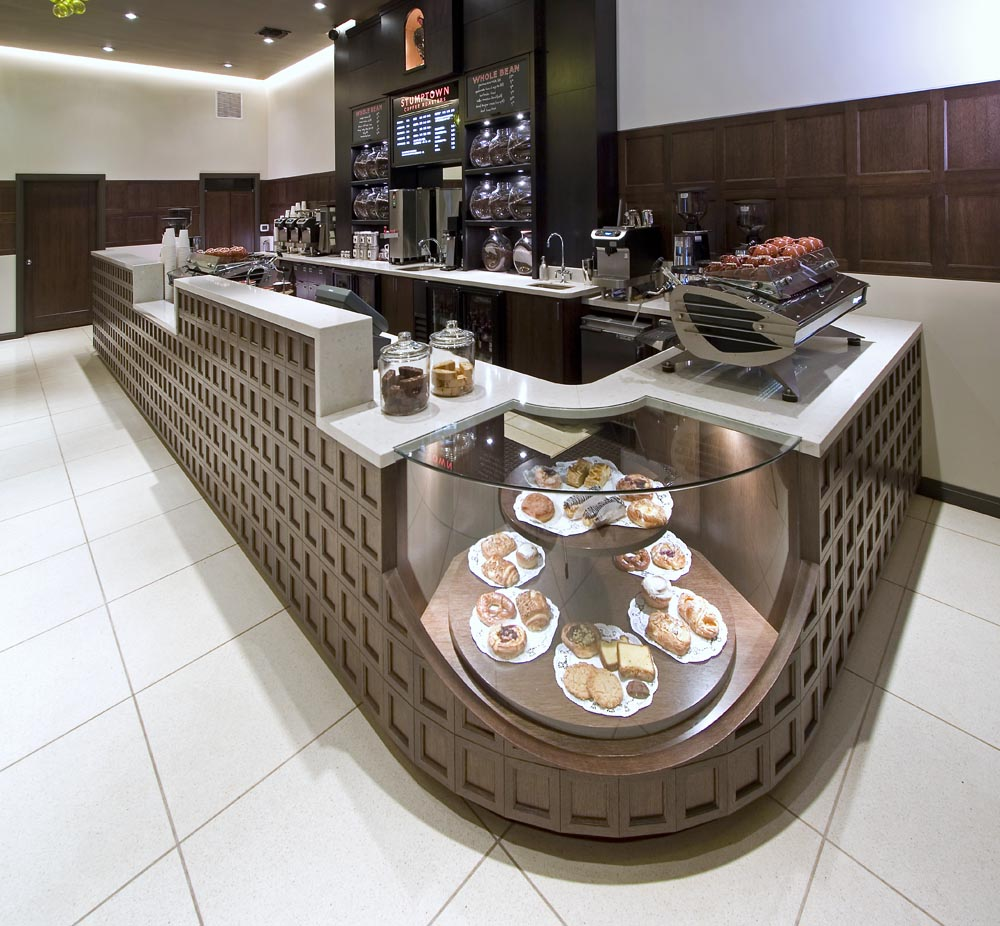 Carrara Marble Coffee Bar Counter by Stone Center, Inc Portland OR
