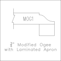 Modified Ogee with Laminated Apron