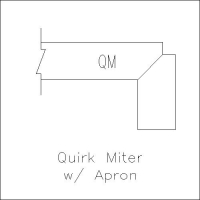 quirk miter with apron