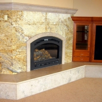 Marble Fireplace Hearth by Stone Center, Inc