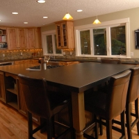 Honed Black Absolute Island by Stone Center, Inc