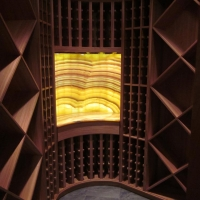 Backlit Onyx Wine Bar by Stone Center, Inc