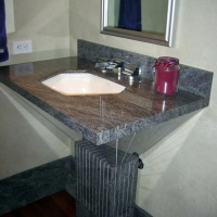 Freestanding Granite Sink by Stone Center, Inc