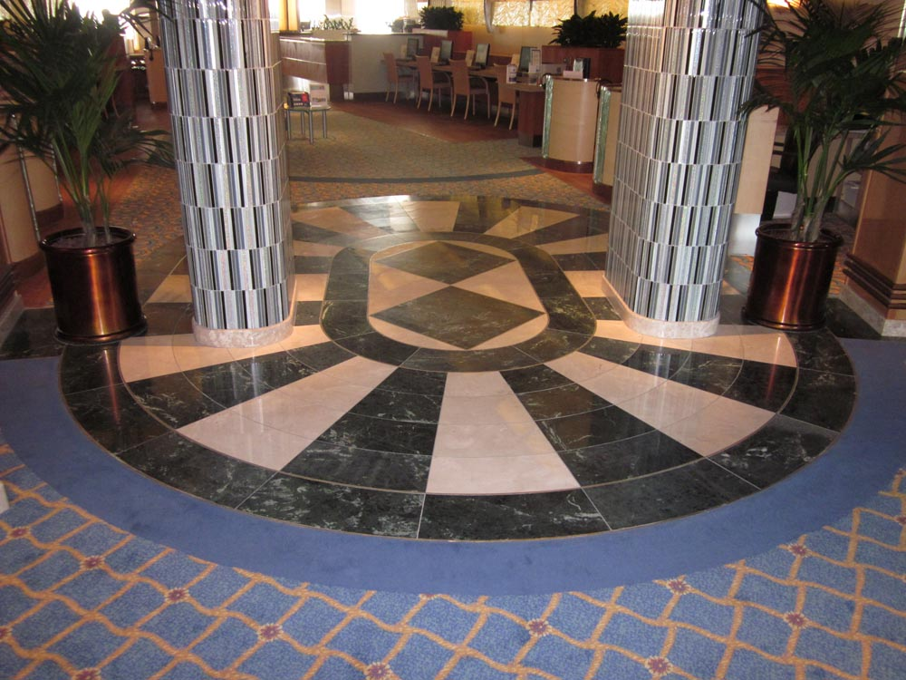 Waterjet Entrance Marble by Stone Center, Inc