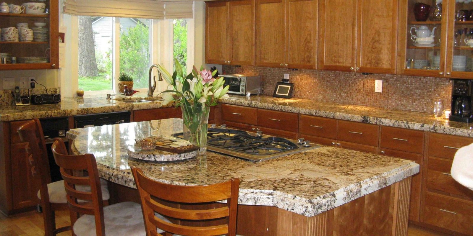 Granite Island Kitchen Marble And Granite Counter Tops Fireplaces Kitchens