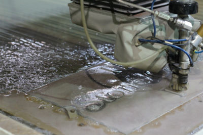 Waterjet cutting aluminum