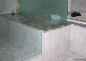 Marble Shower Seat by Stone Center Inc, Portland OR